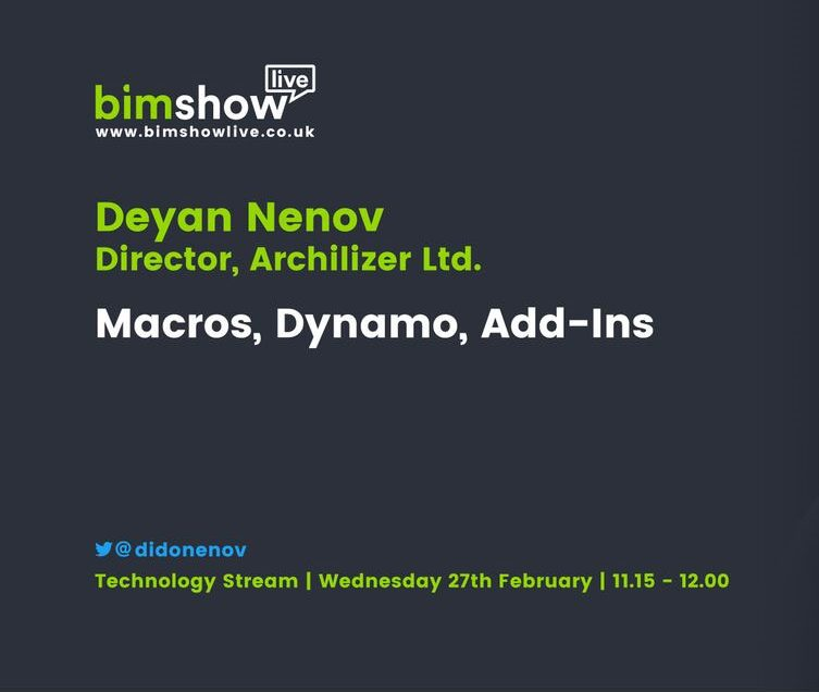 Preview from Deyan Nenov BIM Show Live 2019 talks